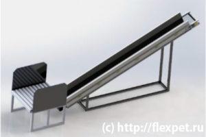 Конвейер для предварительного раскрытия кип