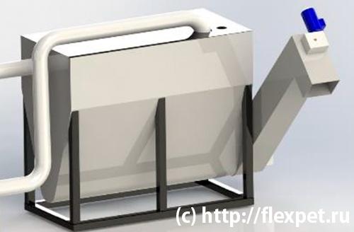 Узел очистки и нагрева воды с автоматической выгрузкой загрязнения